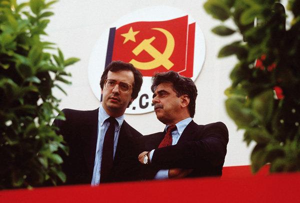 Walter Veltroni e Achille Occhetto