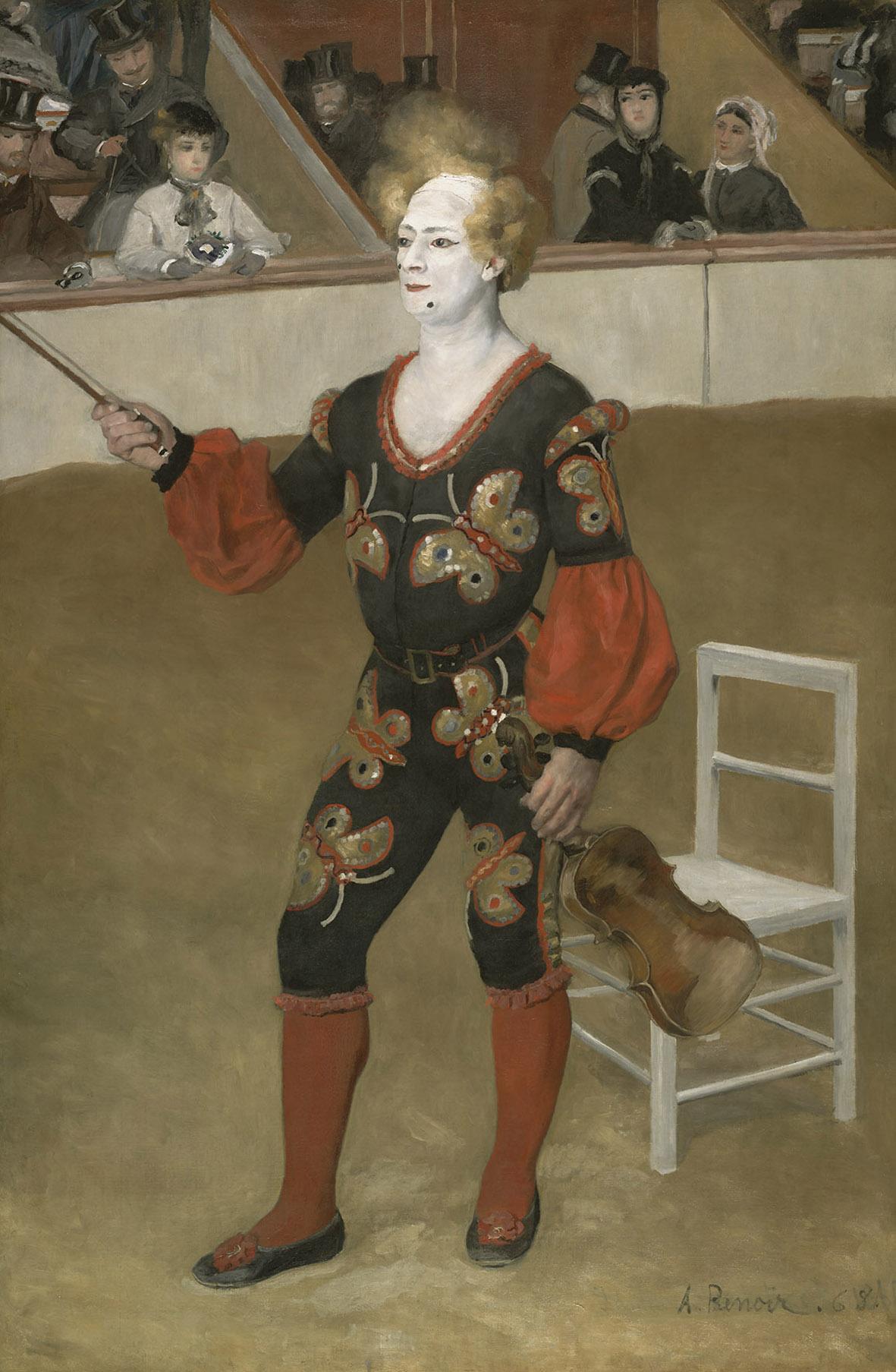 Il clown, 1868